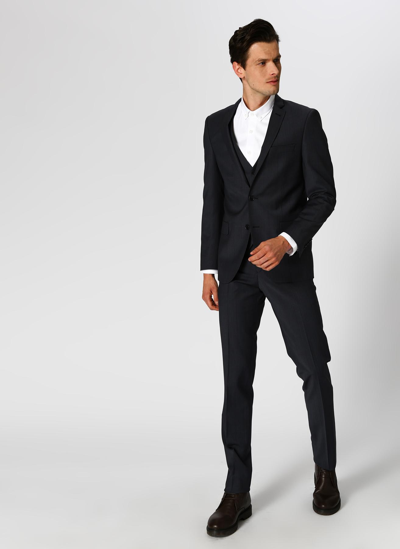 eaf24cccff0eb 46-6 Lacivert Beymen Business Antrasit 3'lü Takım Elbise 5002320828001 Erkek  Giyim