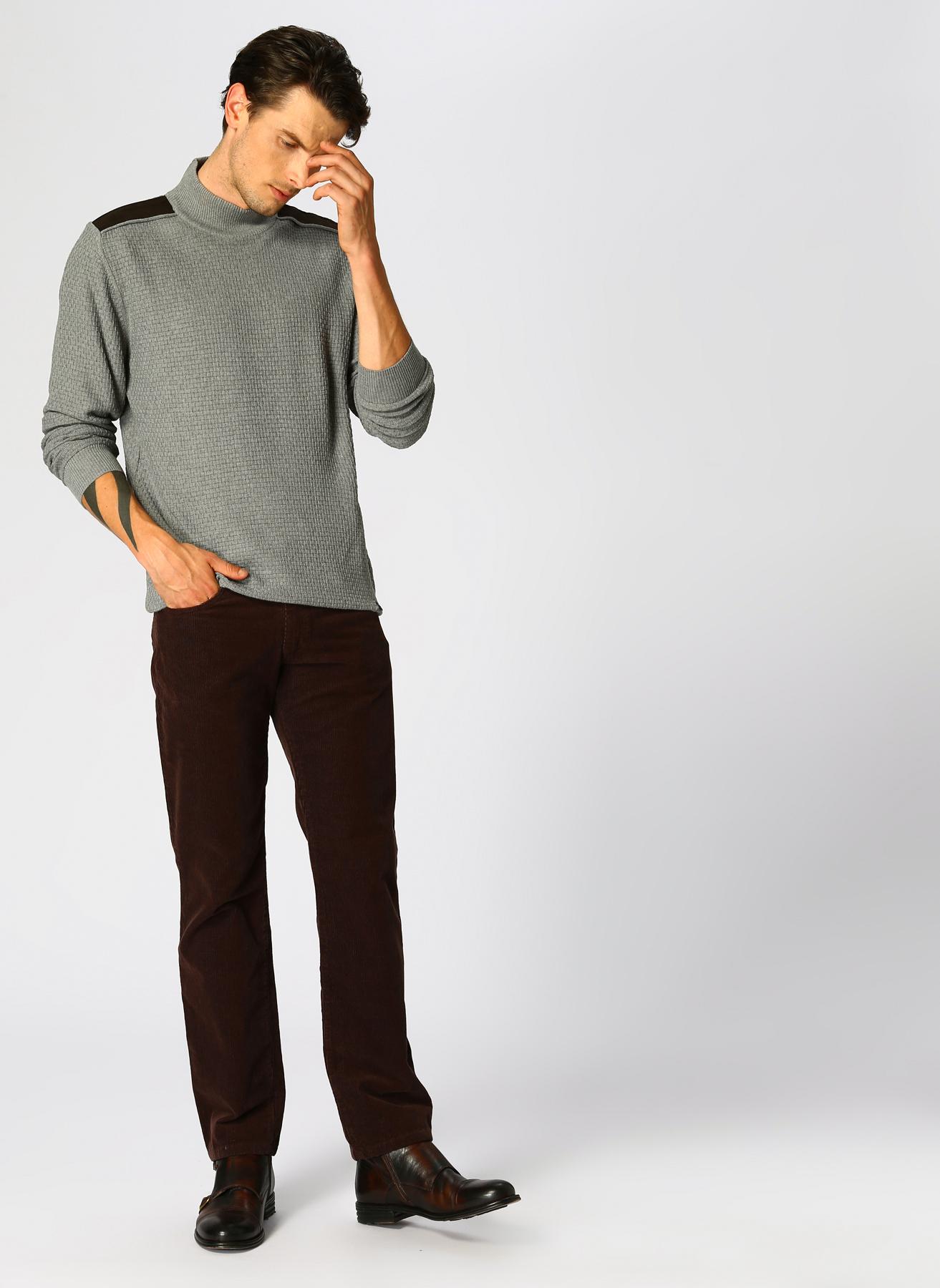 Beymen Business Kadife Kahverengi Klasik Pantolon 38-34 5002320876009 Ürün Resmi
