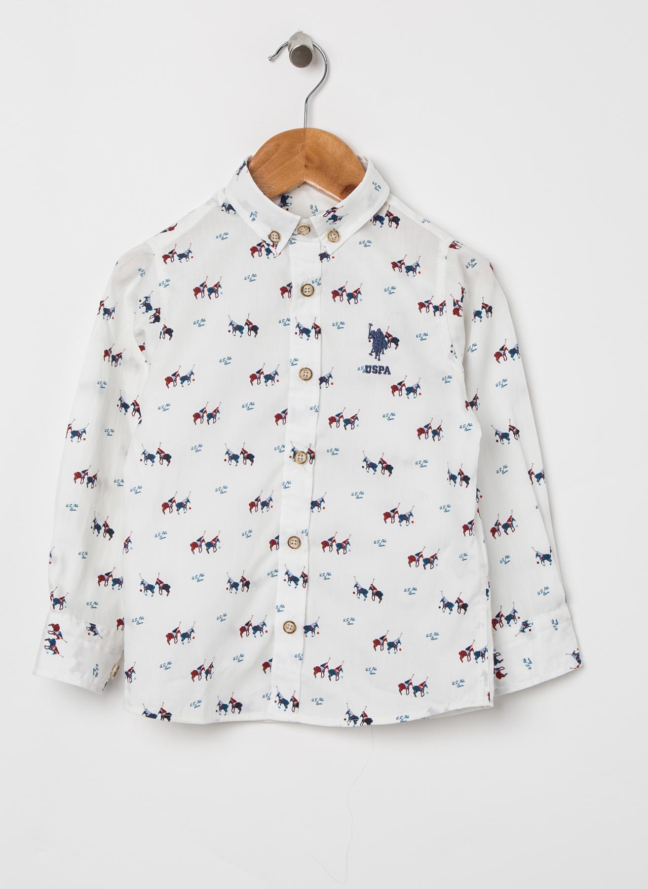 U.S. Polo Assn. Ekru Gömlek 9 Yaş 5002322411007 Ürün Resmi