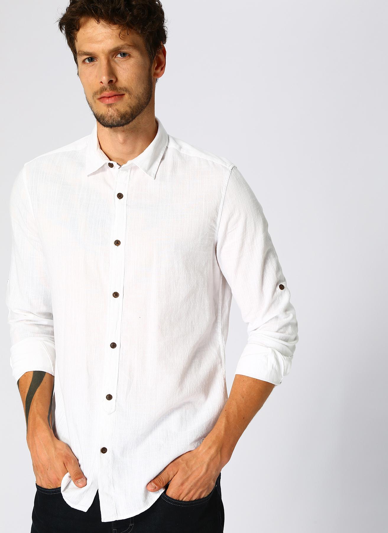 Loft Beyaz Gömlek S 5002327193003 Ürün Resmi