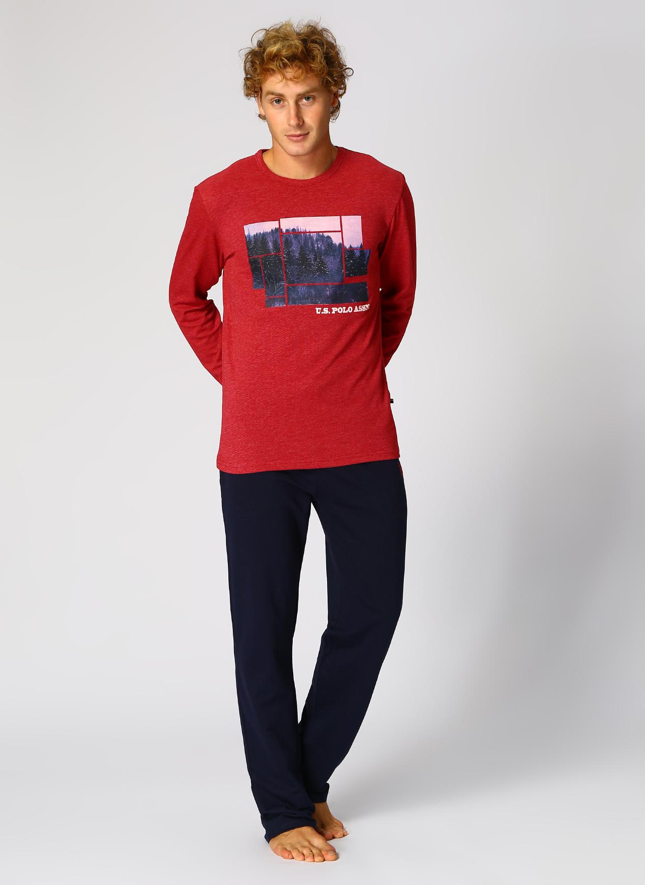U.S. Polo Assn. Leopar Desenli Siyah Pijama Takımı XL 5002327497002 Ürün Resmi