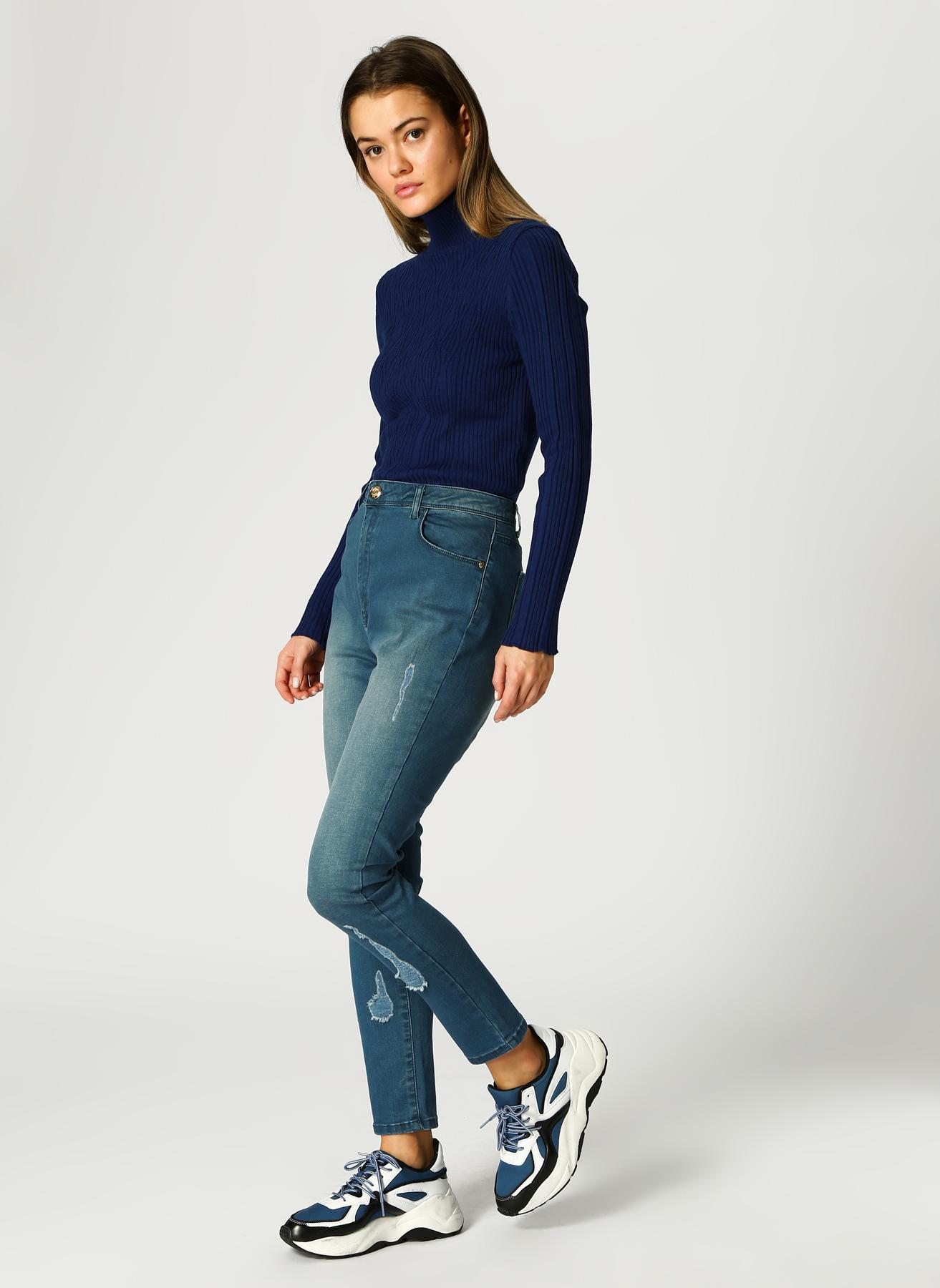 U.S. Polo Assn. Eskitme Tasarımlı İndigo Denim Pantolon 44 5002339022001 Ürün Resmi