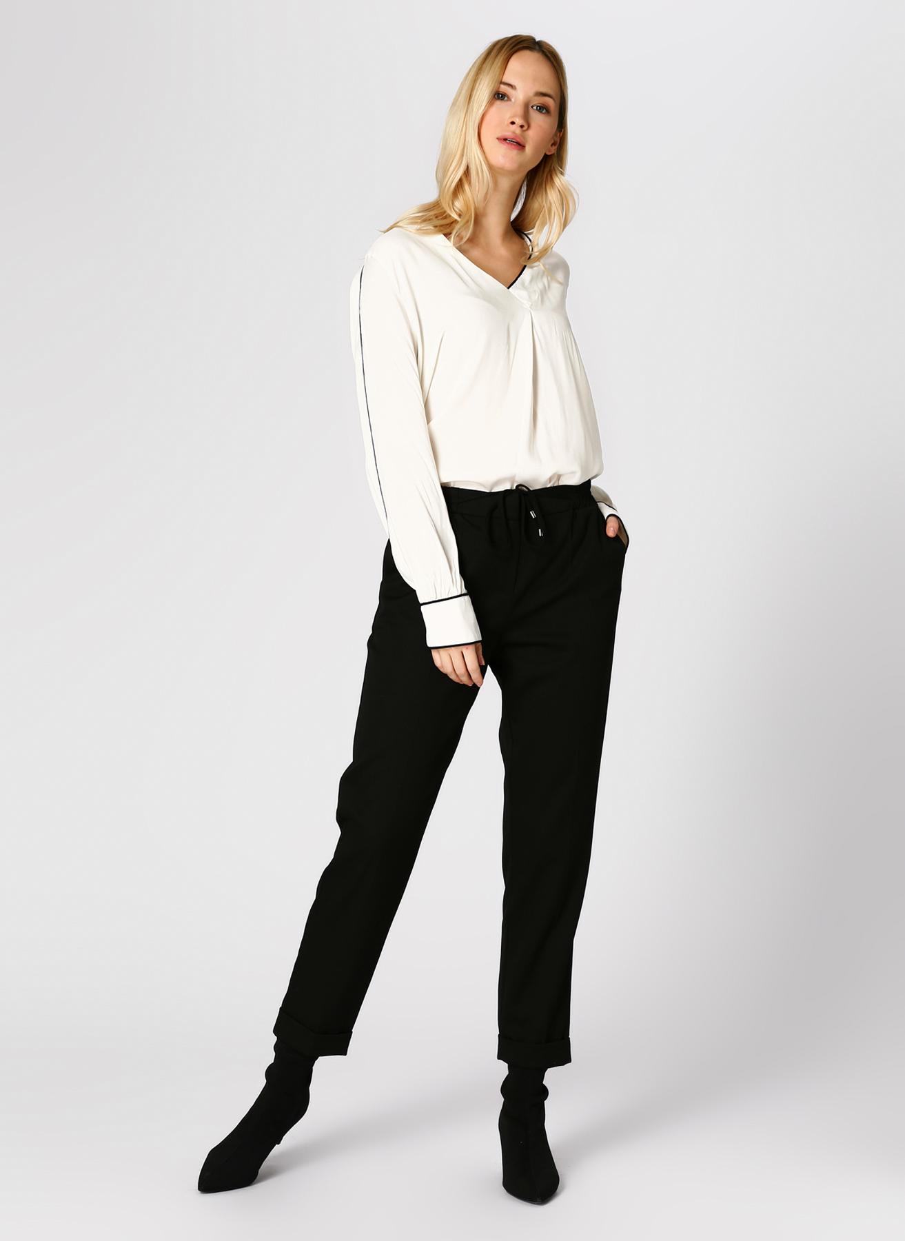 İpekyol Drapey Siyah Pantolon 34 5002346156001 Ürün Resmi
