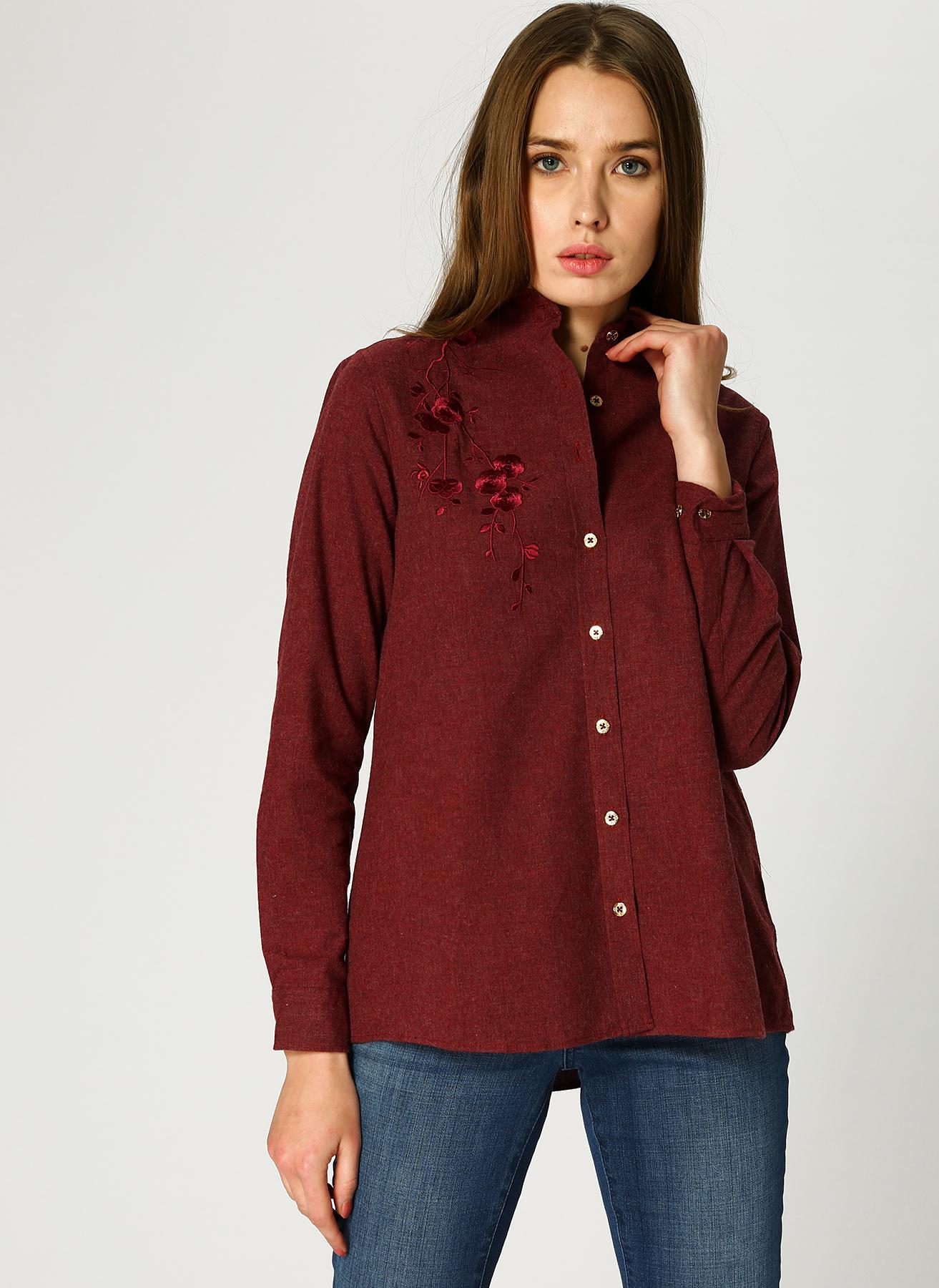 U.S. Polo Assn. Nakışlı Kırmızı Gömlek 38 5002346736003 Ürün Resmi