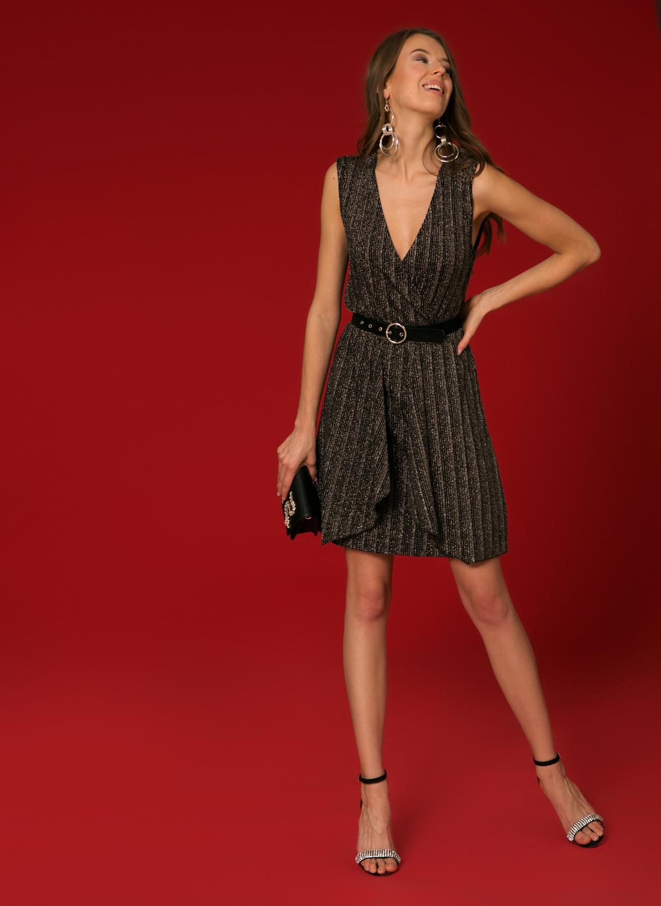 Vero Moda V Yaka Gümüş Elbise M 5002347053001 Ürün Resmi