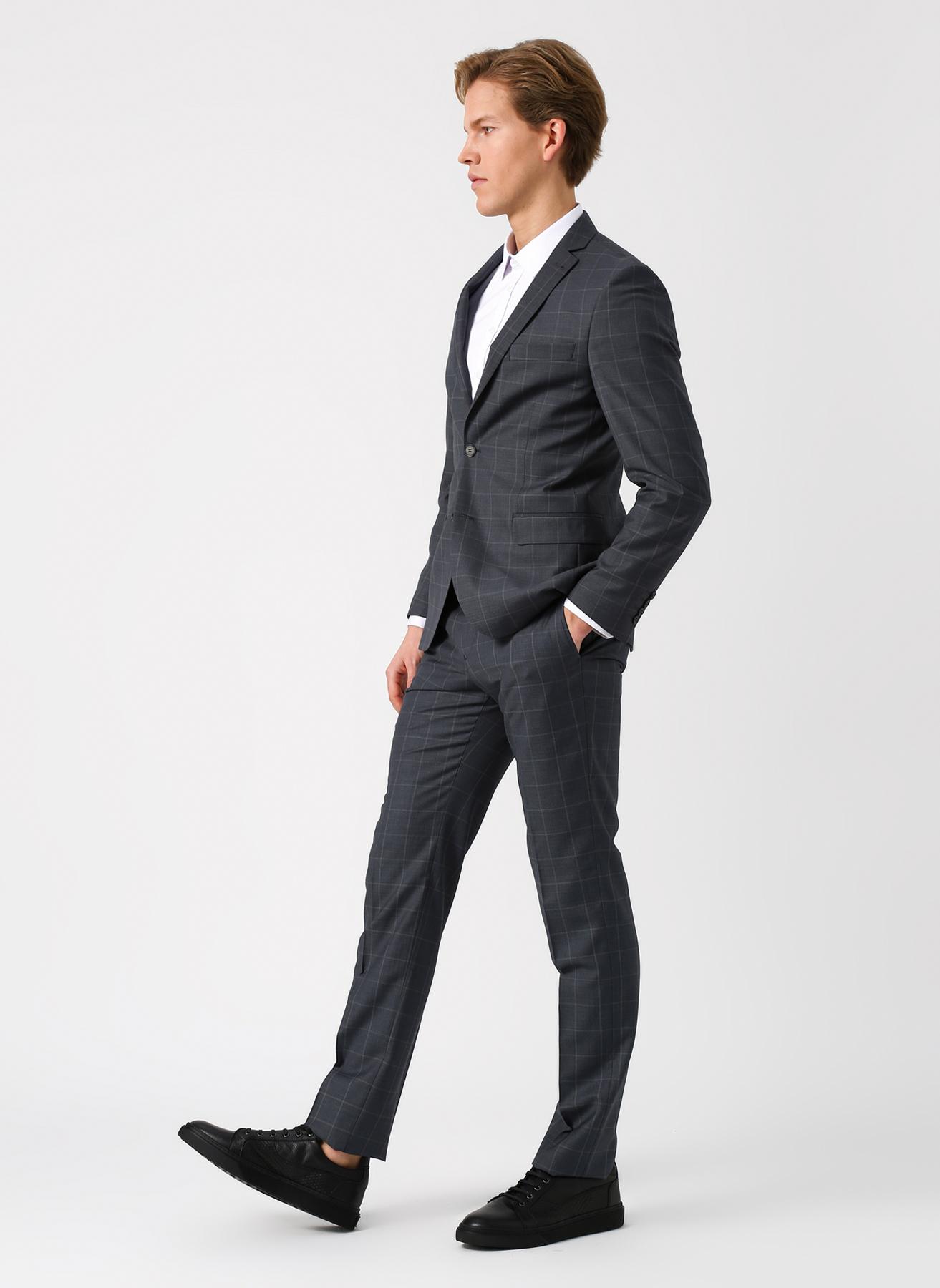 41a52b22e9683 46 Gri Altınyıldız Classic Kareli Slim Fit GriTakım Elbise 5002360024001  Erkek Giyim