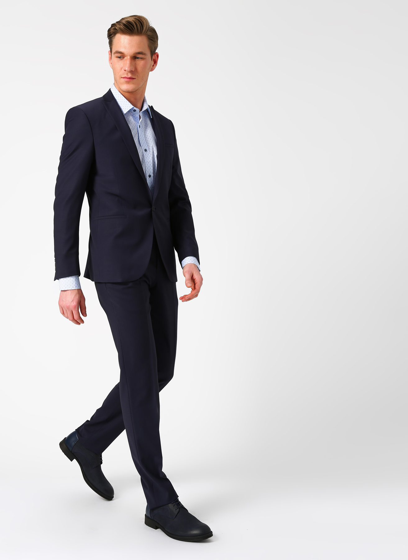 54bcc9b57321b 46-6 Koyu Lacivert Beymen Business Slim Fit Takım Elbise 5002360281001 Erkek  Giyim