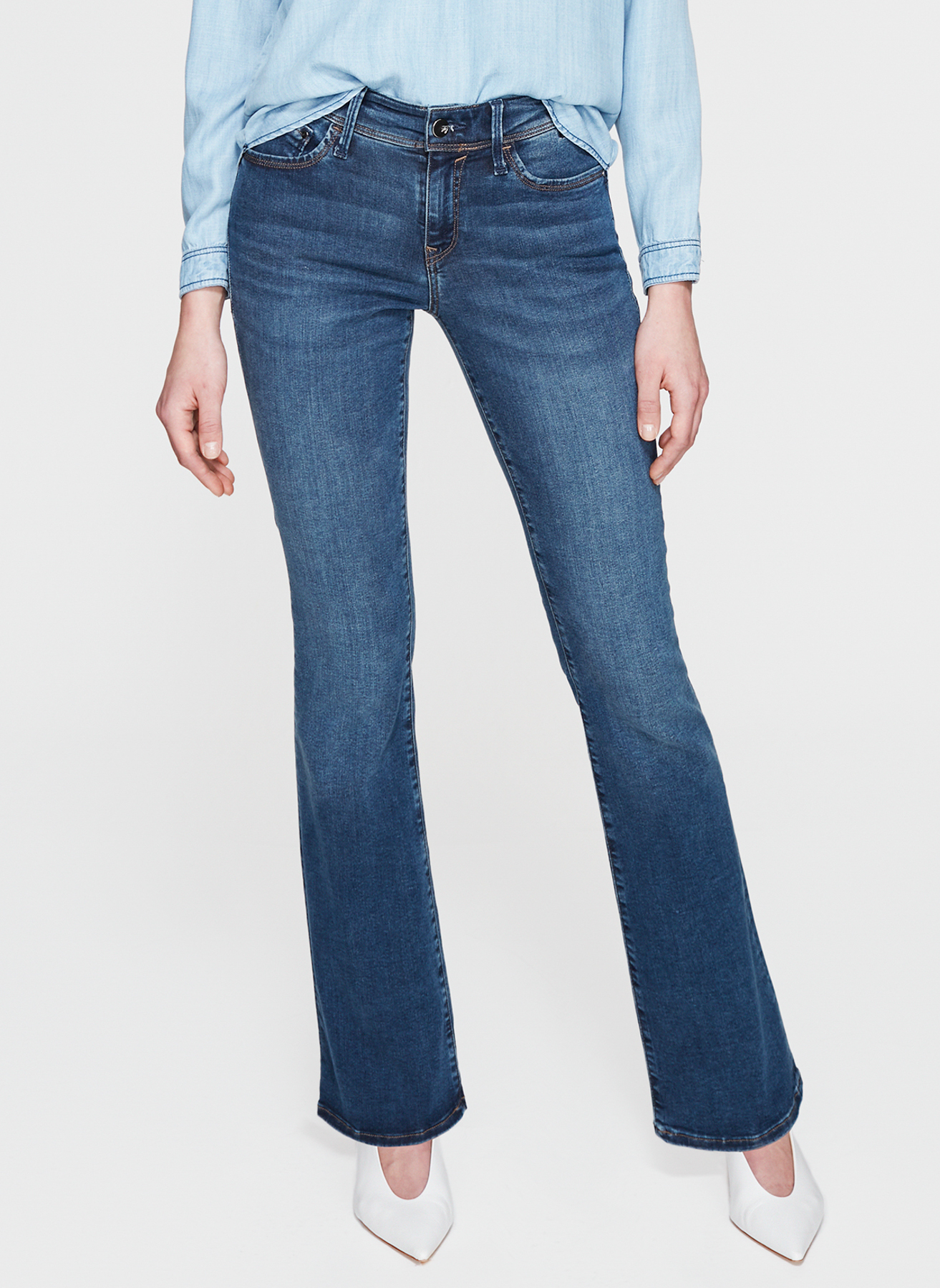 8bc0176e40eb4 31-30 Renksiz Mavi Molly Dark Shaded Gold Lüx Move Denim Pantolon  5002361907029 Kadın Giyim