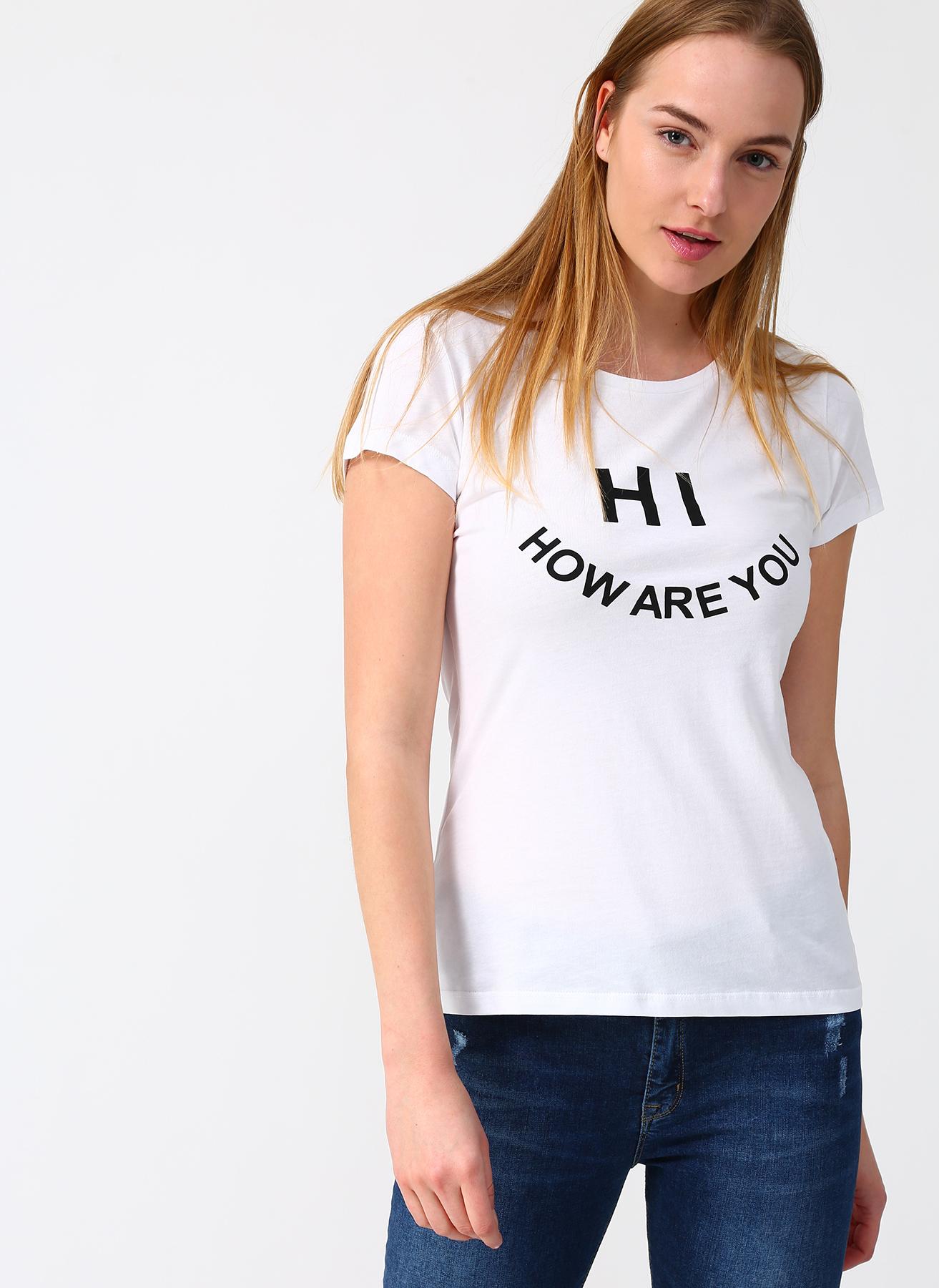 Fashion Friends Yazılı Beyaz T-Shirt L 832919