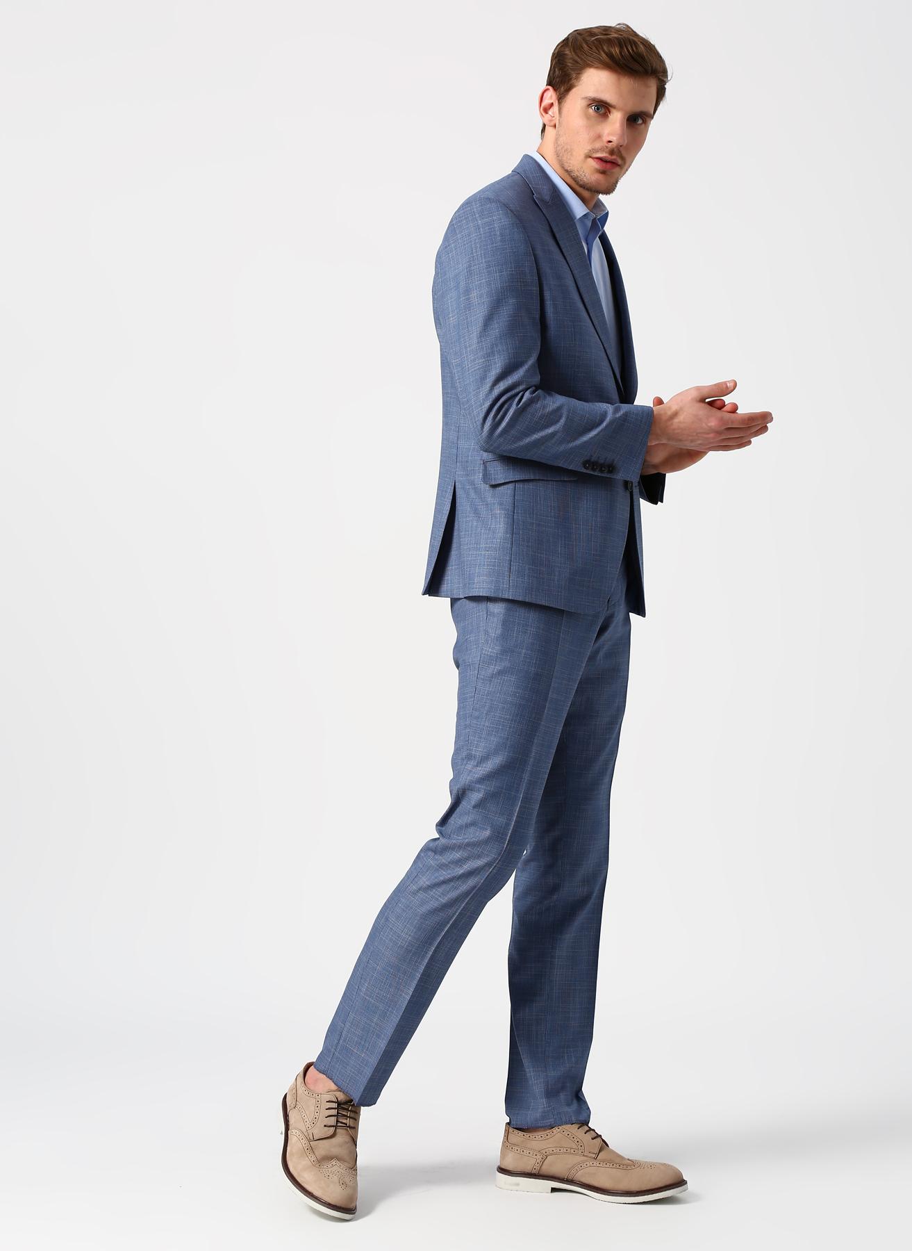 ba8bd9761e6bf 46-6 Koyu Mavi Pierre Cardin Slim Fit Takım Elbise 5002381465006 Erkek Giyim