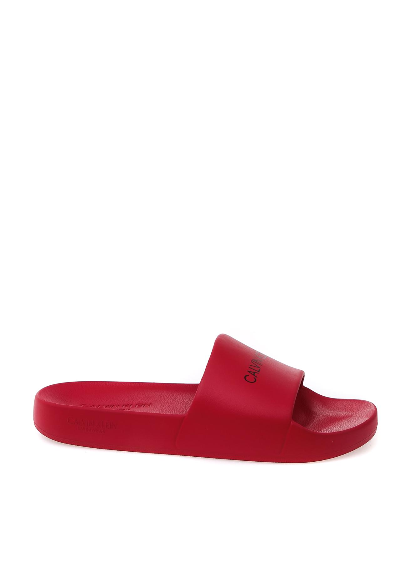 b62acb2490545 36 Kırmızı Calvin Klein Terlik 5002409384001 Ayakkabı & Çanta Kadın Sandalet