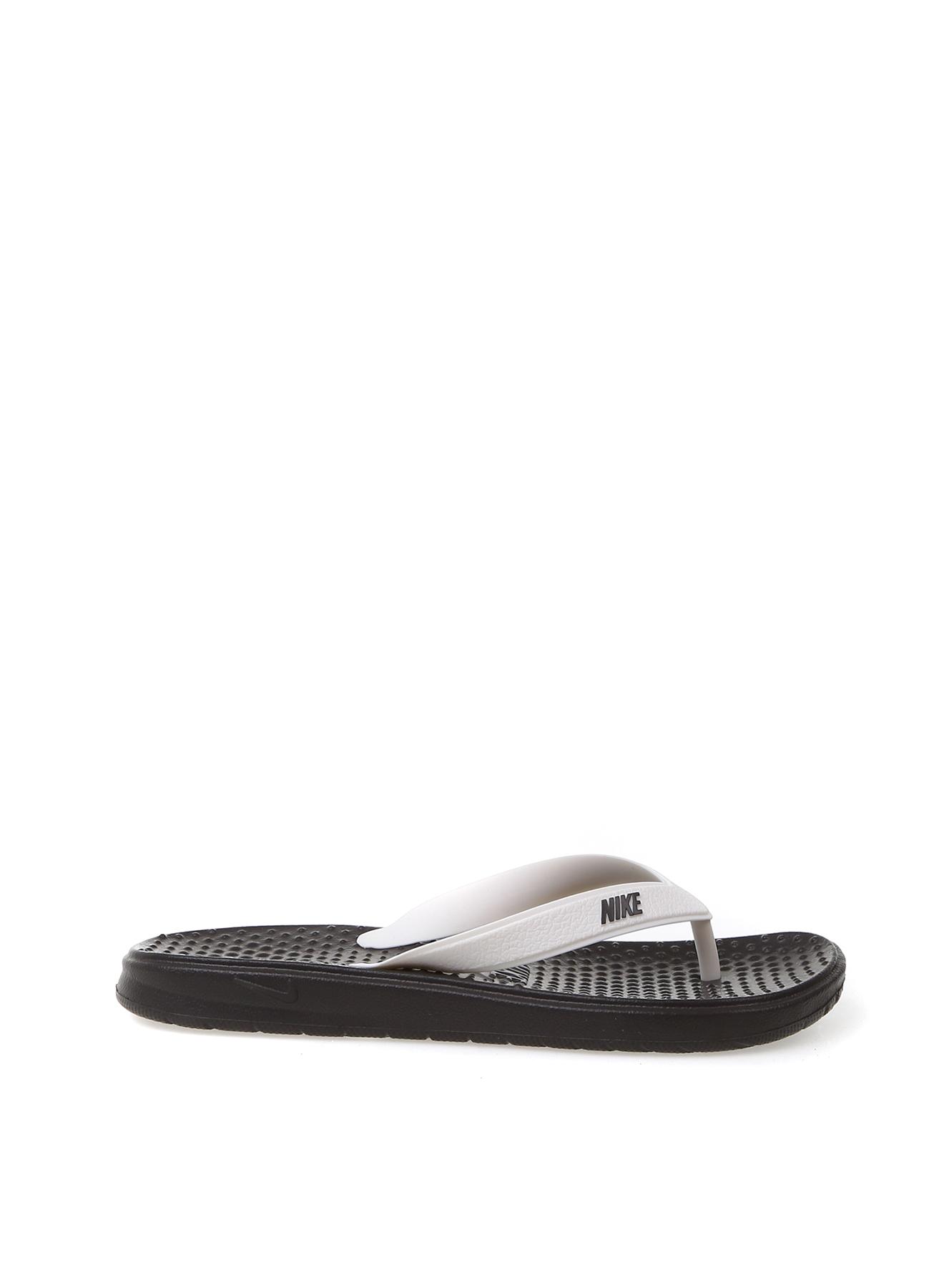 df823ad5e64c0 36.5 Gri - Beyaz Nike Terlik 5002410716003 Ayakkabı & Çanta Kadın Sandalet