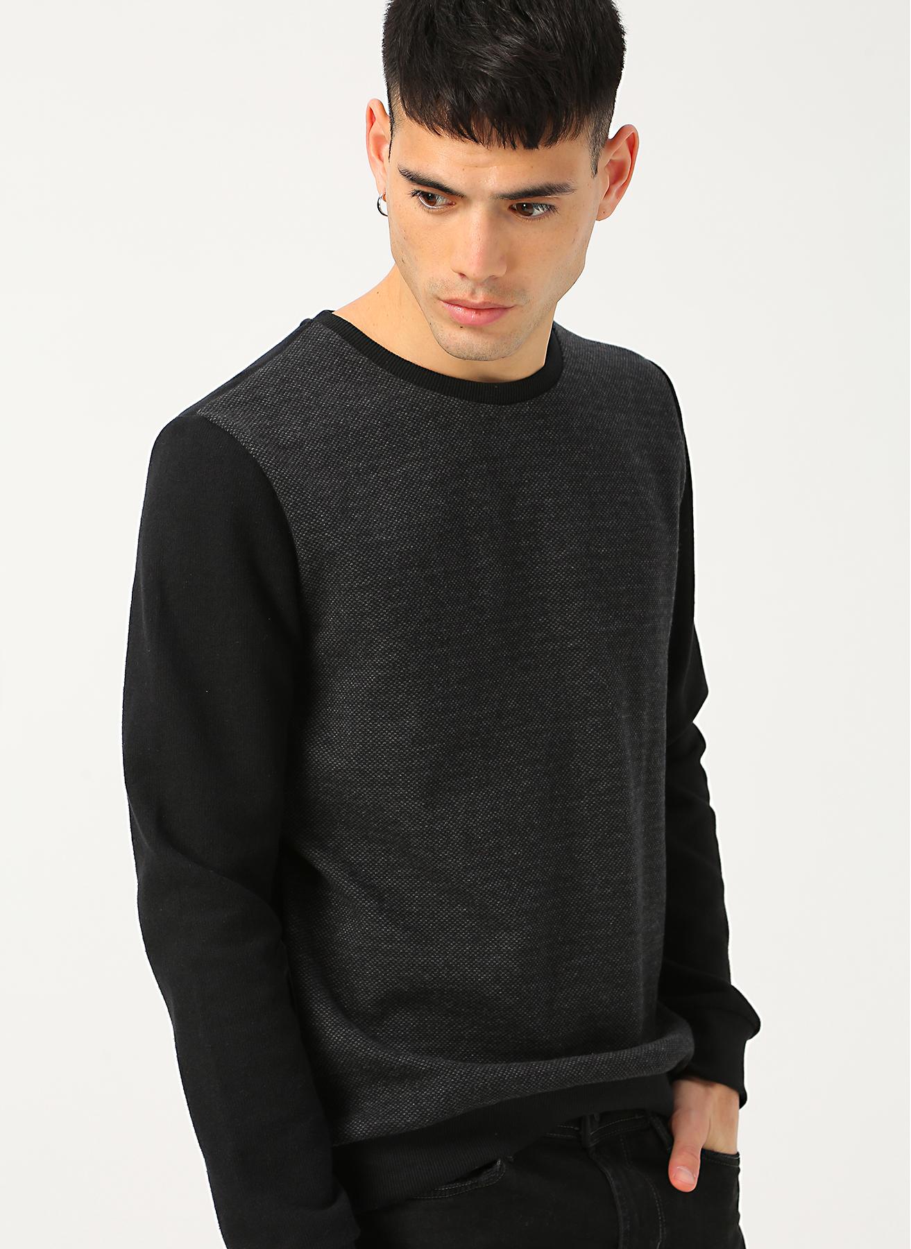 Limon Siyah - Antrasit Sweatshirt